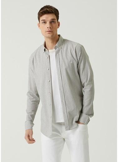 Beymen Club Beymen Club Slim Fit   Kazayağı Desenli Gömlek 101597413 Beyaz